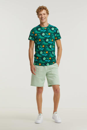 gebloemd T-shirt Estevo groen