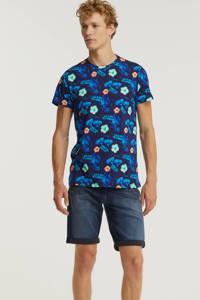 Cars gebloemd T-shirt Estevo donkerblauw, Donkerblauw