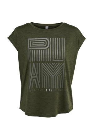 sport T-shirt ONPOMDI groen