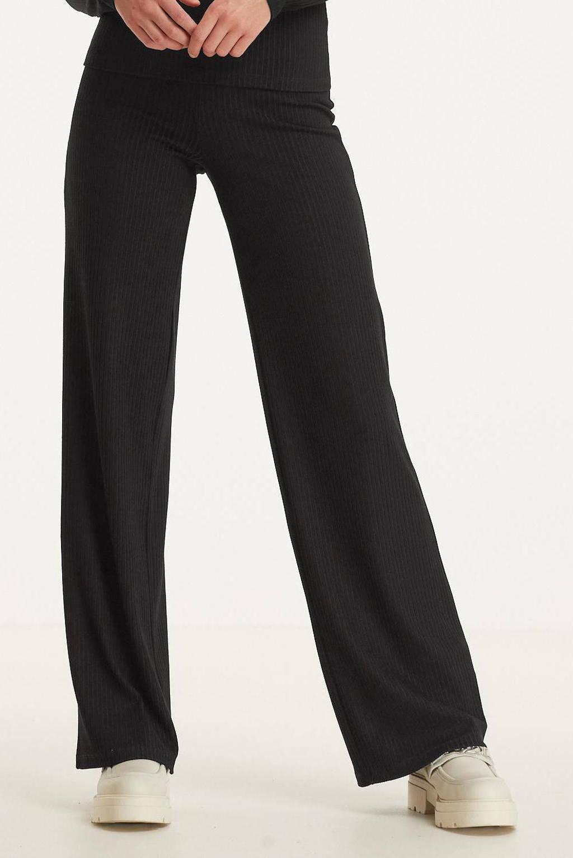 Raizzed straight broek SAVIEN zwart, Zwart