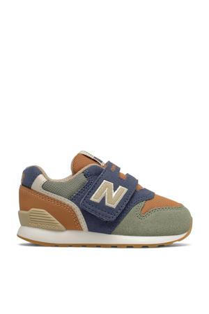 996  sneakers kaki/donkerblauw/camel