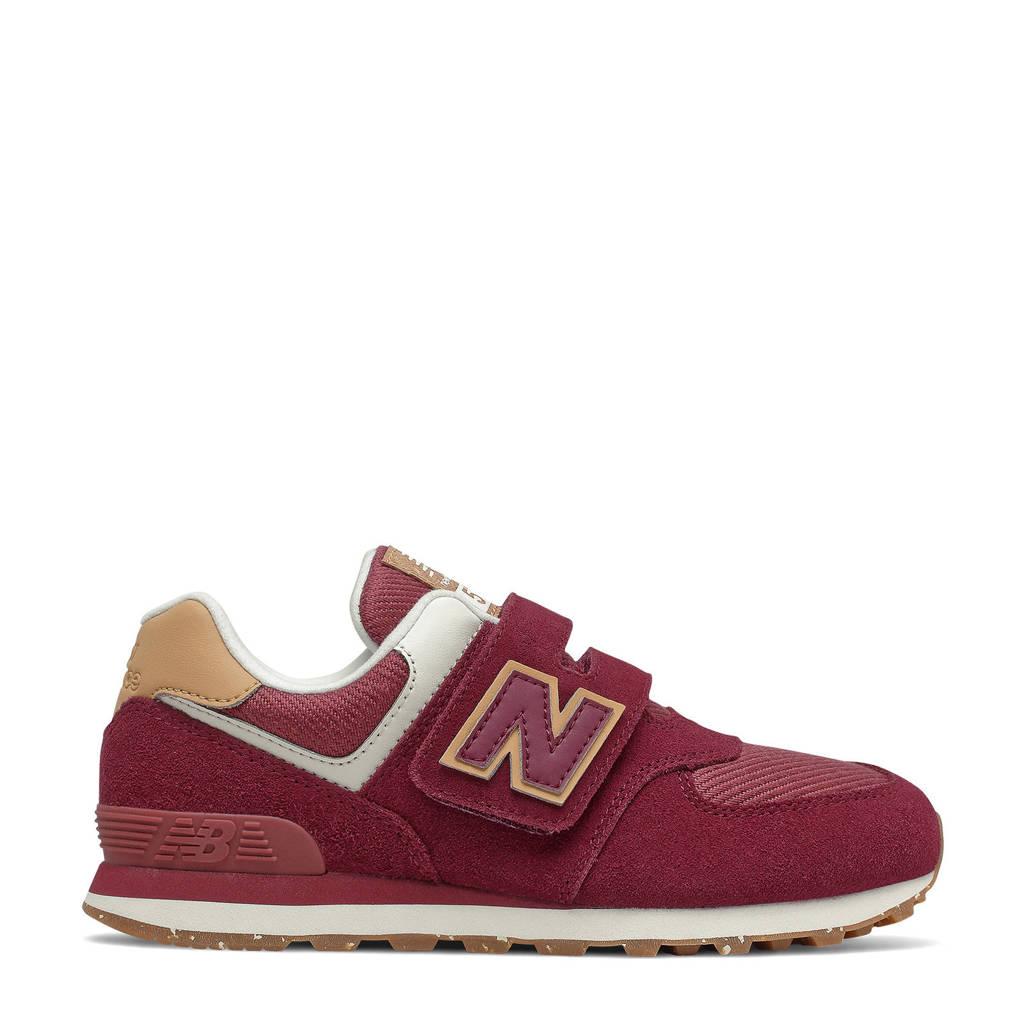 New Balance 574  sneakers donkerrood, Donkerrood/rood