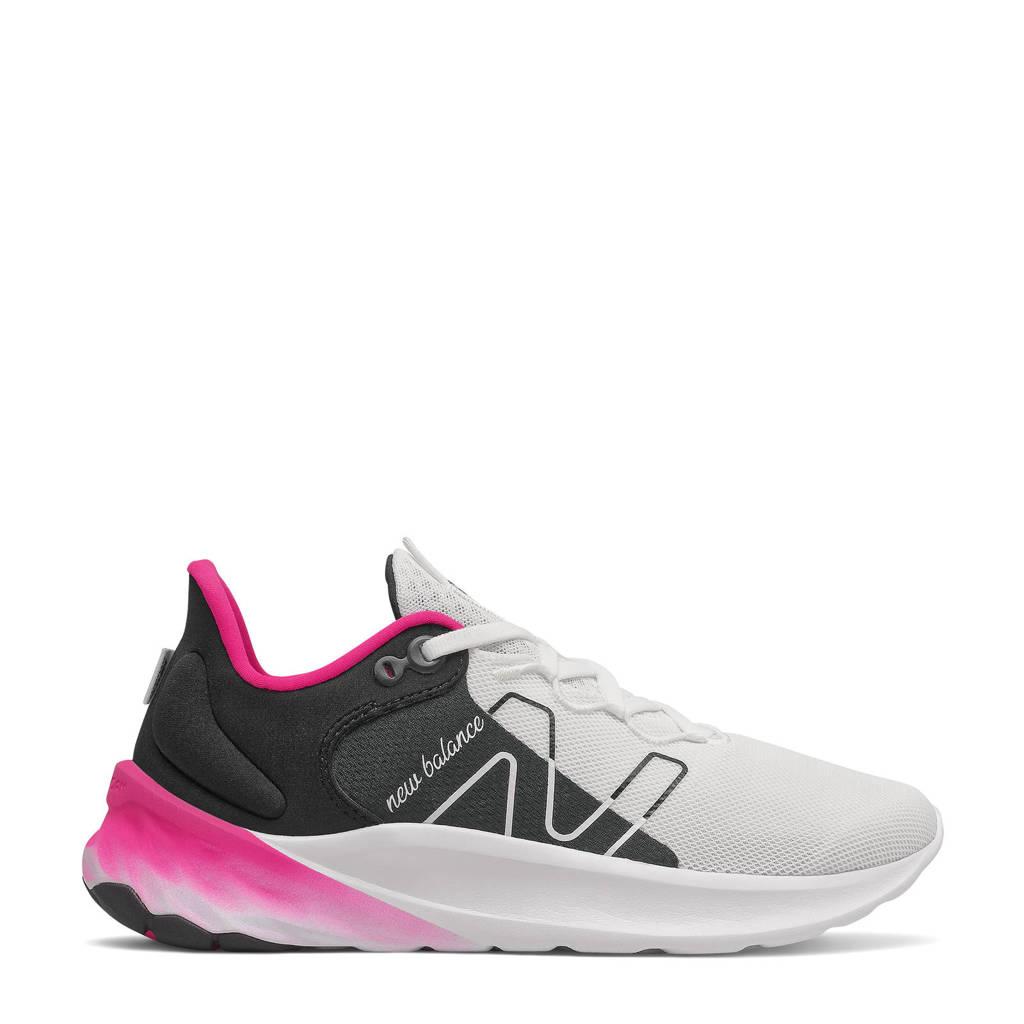 New Balance Fresh Foam Roav V2 hardloopschoenen wit/zwart/roze, Wit/zwart/roze