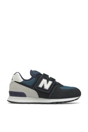 574  sneakers blauw/zwart
