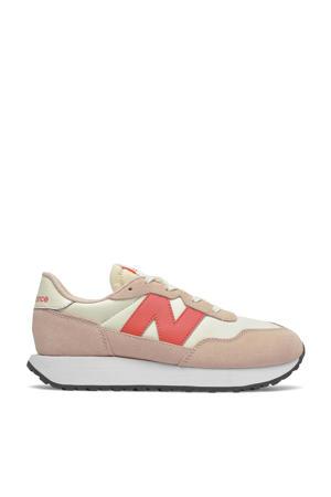237  sneakers lichtroze/ecru