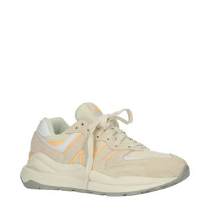 574  sneakers ecru/lichtoranje/wit