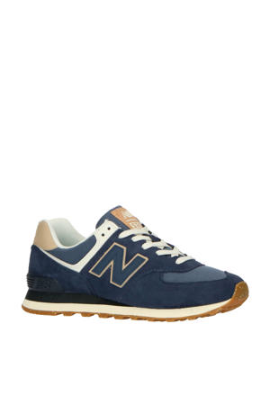 574  sneakers donkerblauw/ecru
