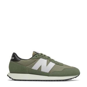 237  sneakers mosgroen/wit