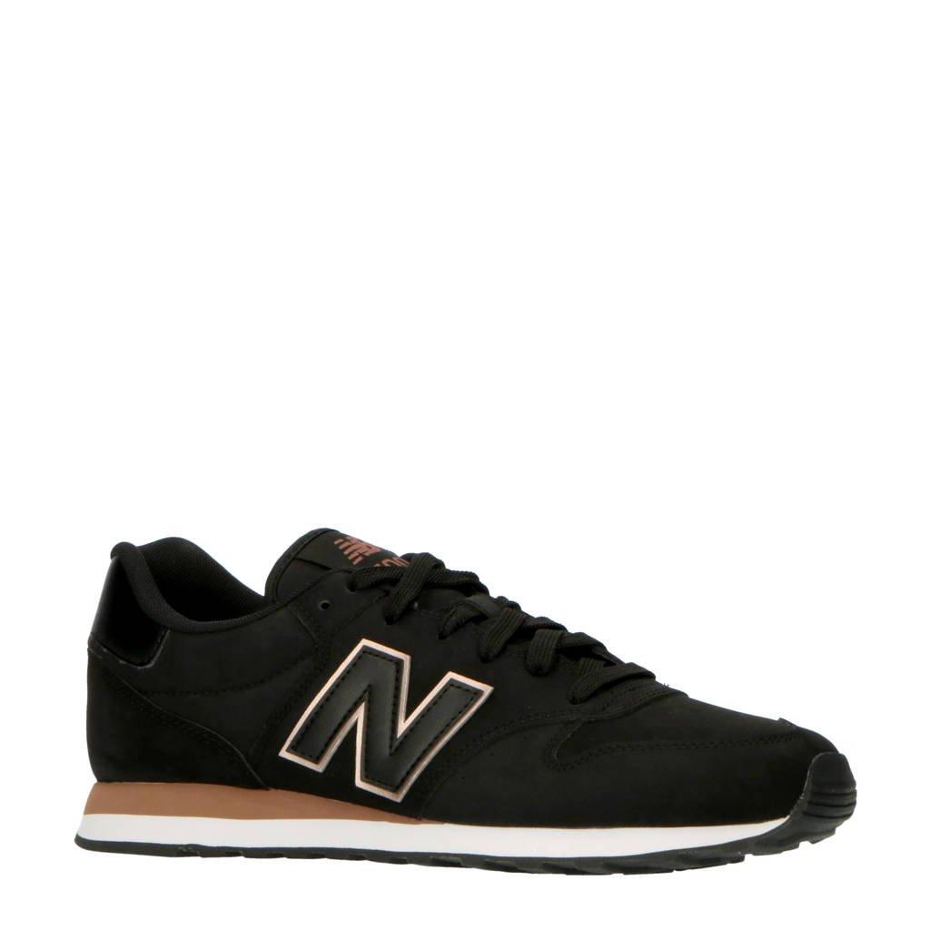 New Balance 500  sneakers zwart/rosé, Zwart/rosé