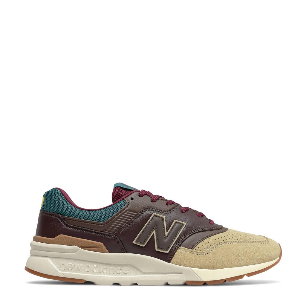 New Balance 997  sneakers bruin/ecru/blauw, Bruin/ecru/blauw