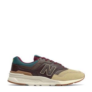 997  sneakers bruin/ecru/blauw