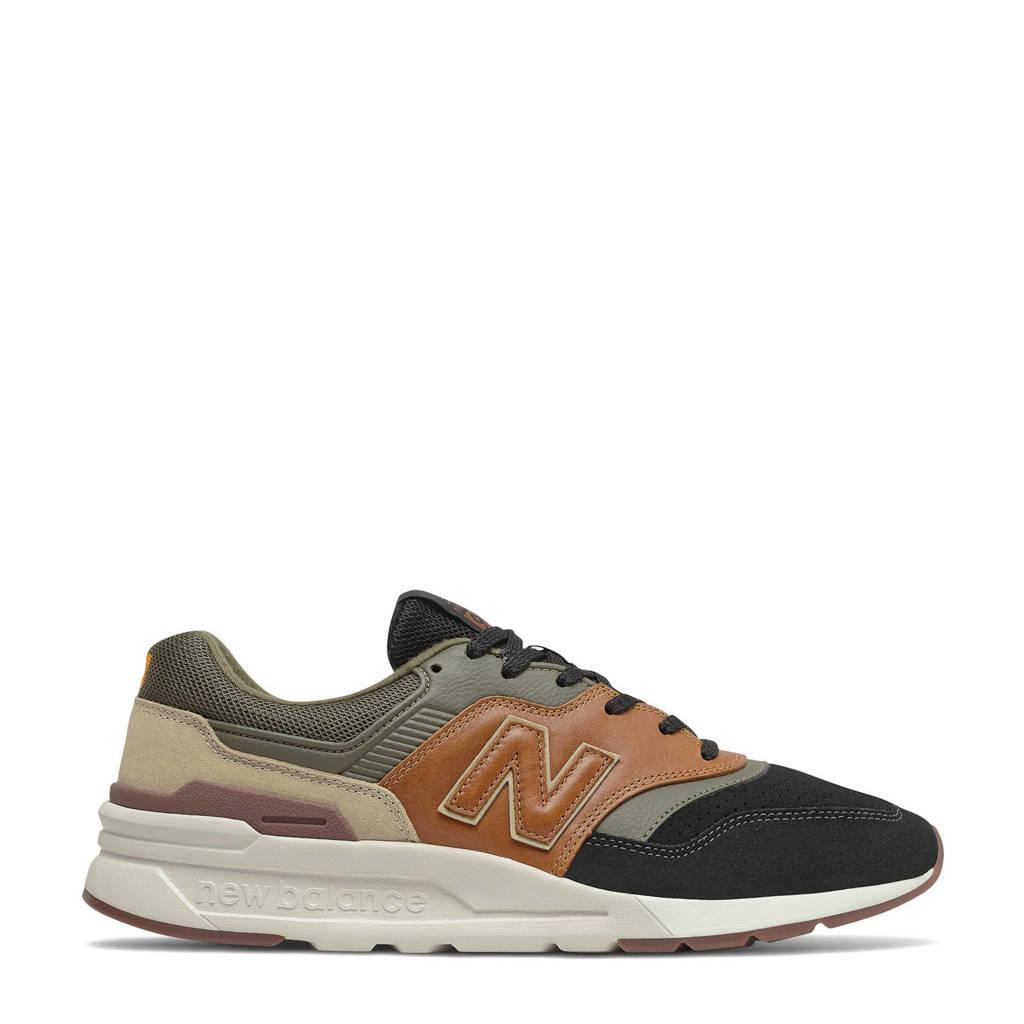 New Balance 997  sneakers groen/zwart/camel