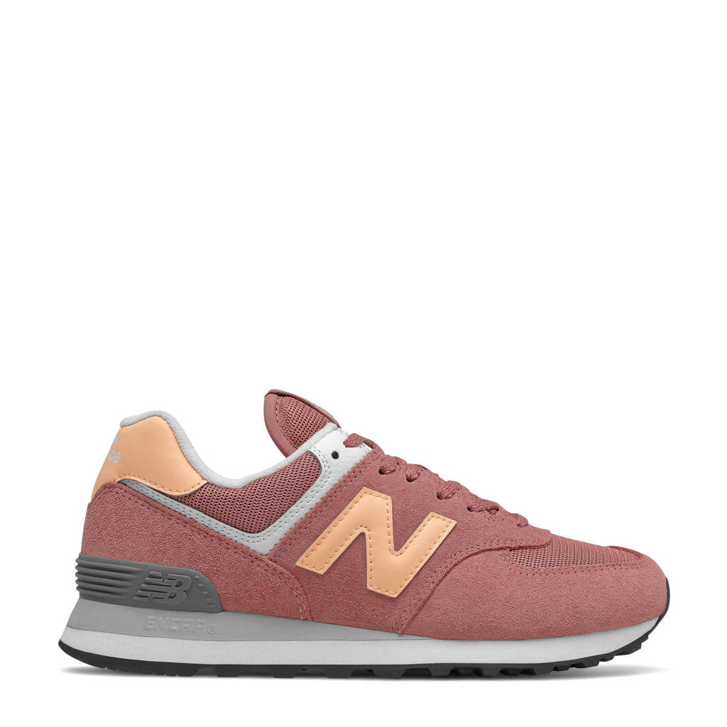 New Balance 574  sneakers oudroze/oranje, Oudroze/oranje