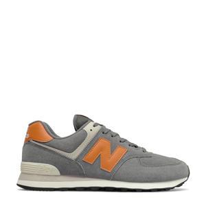 574  sneakers grijs/oranje