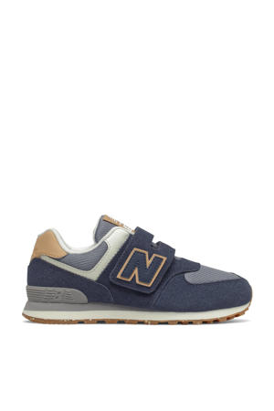 574  sneakers donkerblauw/grijs/ecru
