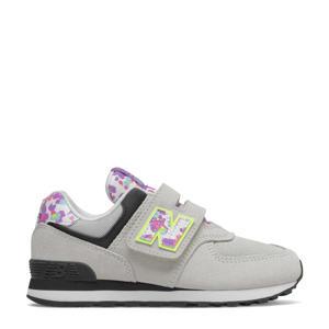 574  sneakers lichtgrijs/geel/lila