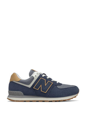 574  sneakers donkerbaluw/grijs/geel