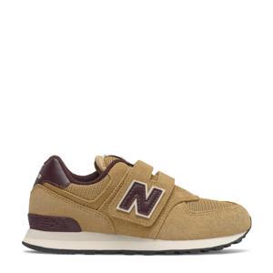 574  sneakers camel/donkerbruin