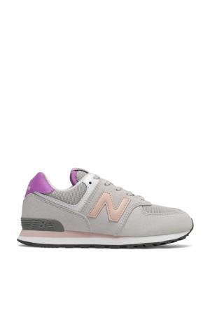 574  sneakers grijs/roze/fuchsia
