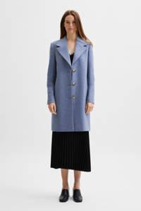SELECTED FEMME  coat SLFNEW SASJA met wol blauw, Blauw