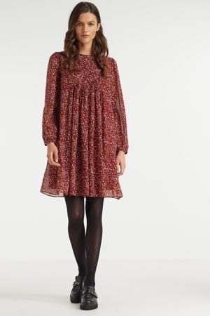 A-lijn jurk chiffon met dierenprint