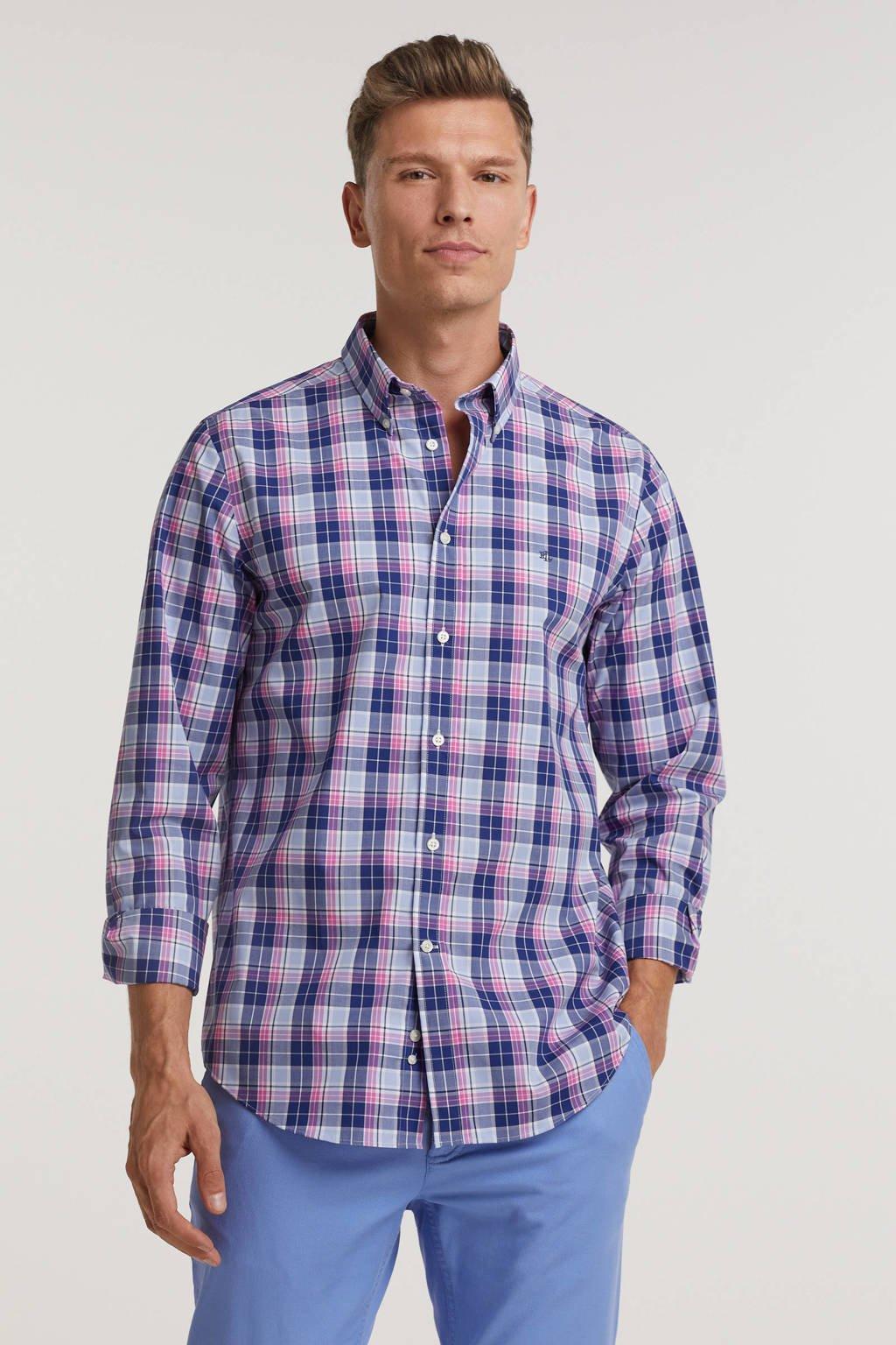 POLO Ralph Lauren geruite slim fit overhemd blauw/multi, Blauw/multi