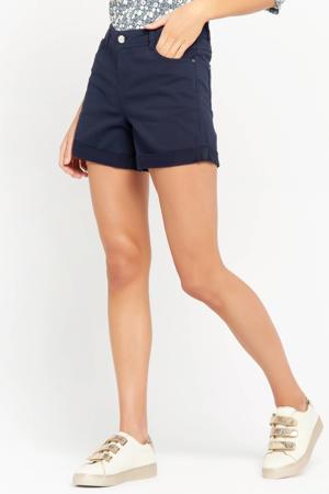 high waist regular fit short donkerblauw