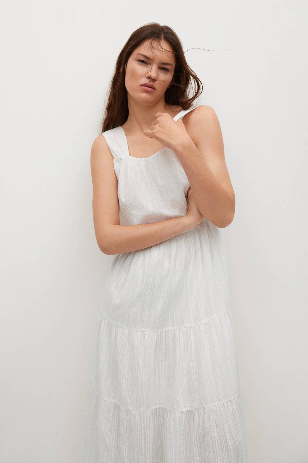 Mango maxi jurk wit, Wit