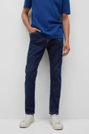 tapered fit jeans changeant blauw