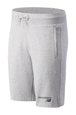 regular fit sweatshort met logo grijs