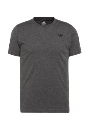 regular fit T-shirt met logo antraciet