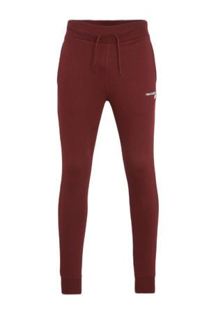 regular fit broek met logo zwart/grijs