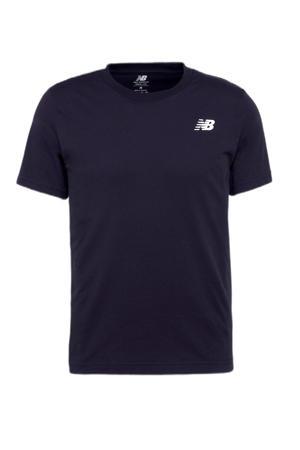 regular fit T-shirt met logo donkerblauw