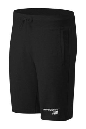 regular fit sweatshort met logo zwart