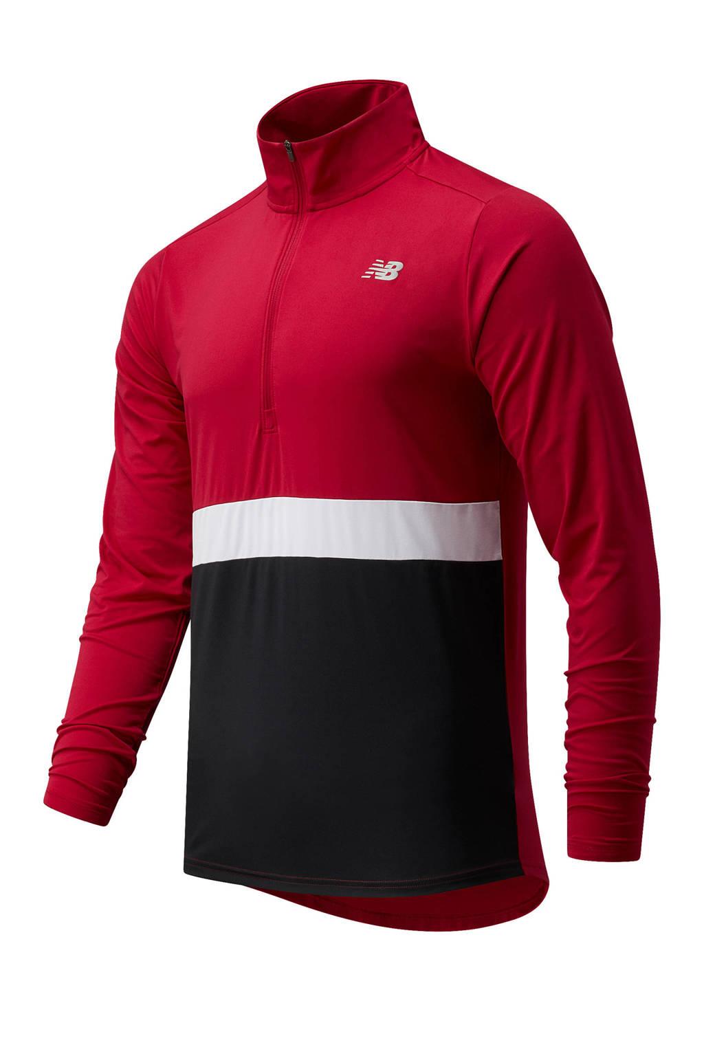 New Balance   hardloopshirt Accelerate rood/wit/zwart, Rood/wit/zwart