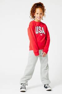 America Today Junior gemêleerde regular fit joggingbroek lichtgrijs melee, Lichtgrijs melee
