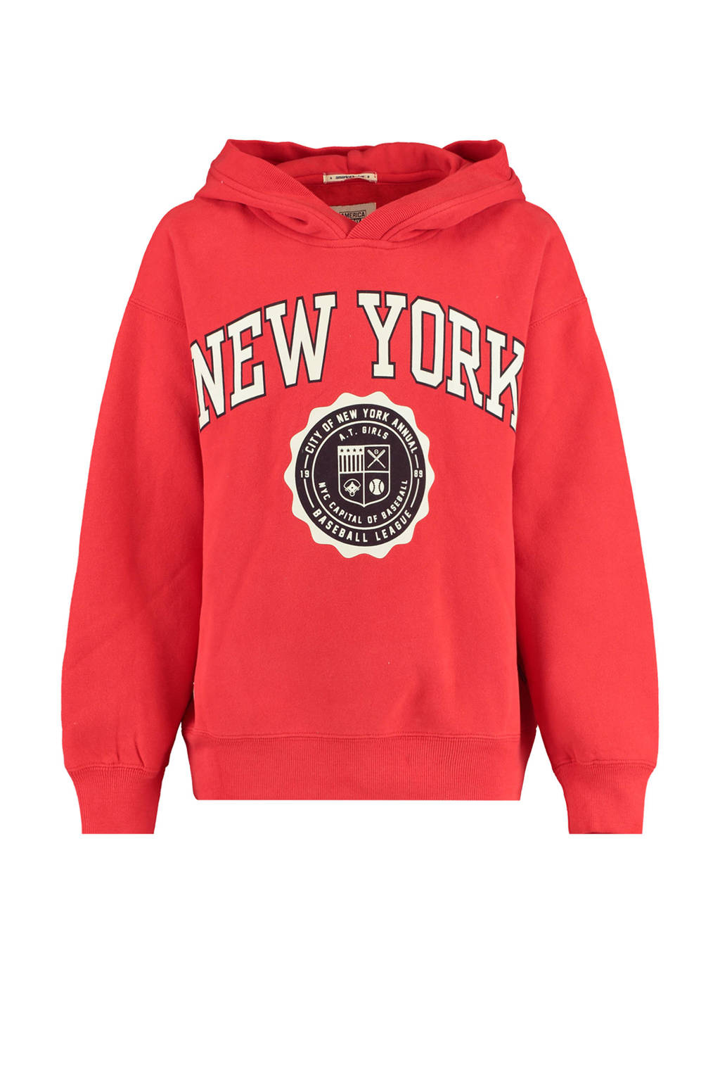 America Today Junior sweater met printopdruk rood, Rood