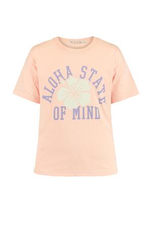 T-shirt met printopdruk lichtroze