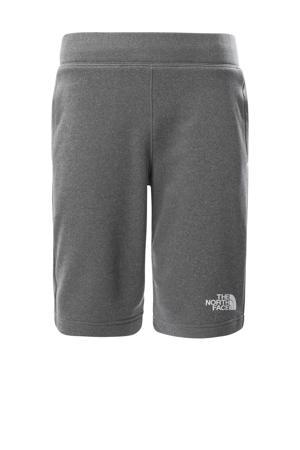 regular fit short Surgent met logo grijs