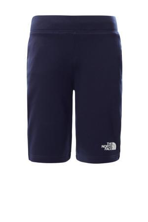 regular fit short Surgent met logo donkerblauw