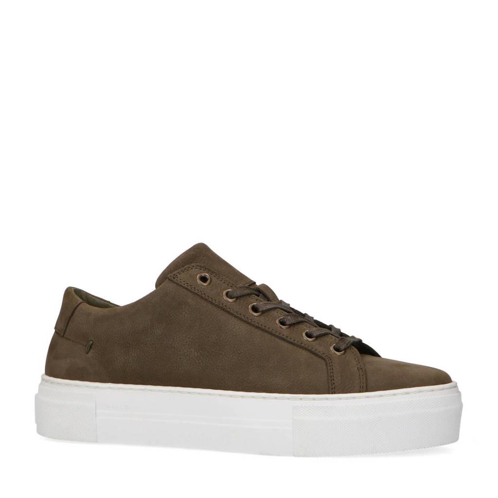 Manfield   nubuck sneakers kaki, Kaki