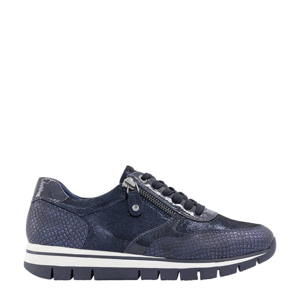 Medicus  comfort leren sneakers blauw, Blauw