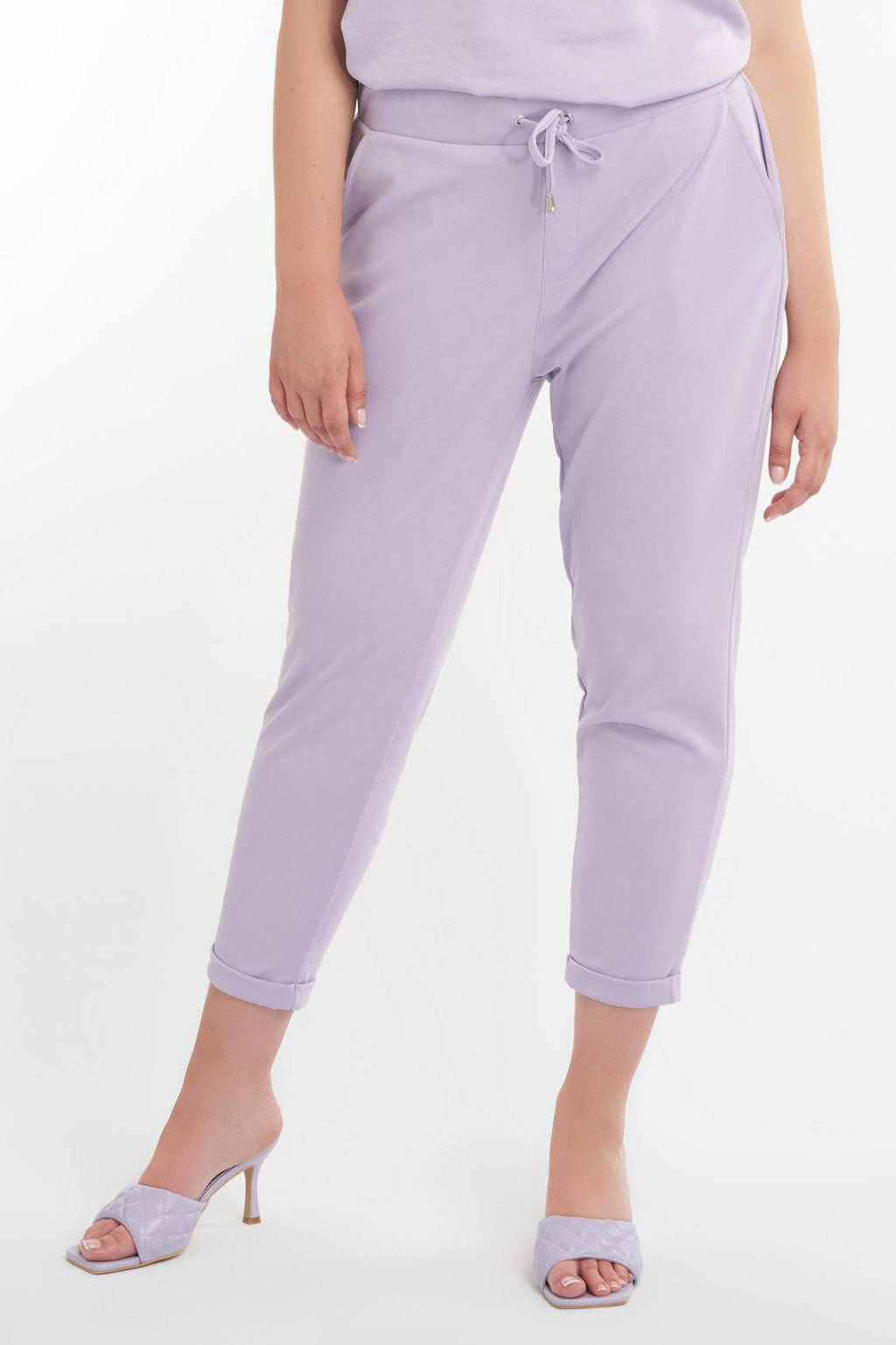MS Mode tapered fit broek lila, Lila