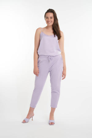 tapered fit broek lila