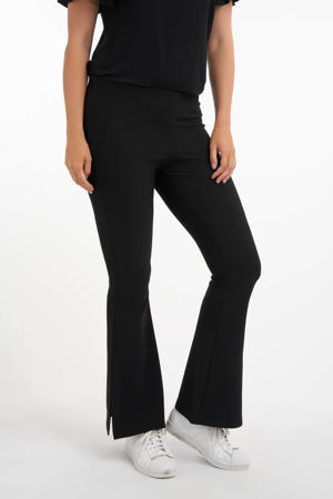 Plus Size flared legging zwart