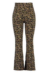 MS Mode flared legging met print zwart/bruin, Zwart/bruin