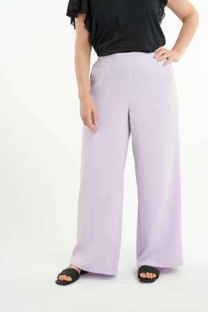 wide leg palazzo broek lila