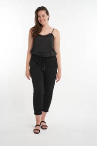 MS Mode tapered fit broek zwart, Zwart