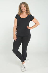 Paprika Plus Size sport T-shirt zwart/oranje, Oranje