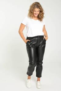 Paprika coated tapered fit broek zwart, Zwart